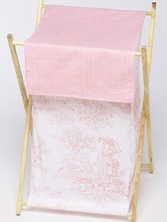 Pink Toile Clothes #Hamper by JoJo Designs TinyTotties.com