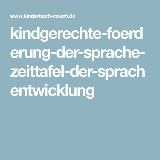 Kindgerechte Foerderung Der Sprache Zeittafel Der Sprachentwicklung Sprachentwicklung Sprache Zeittafel