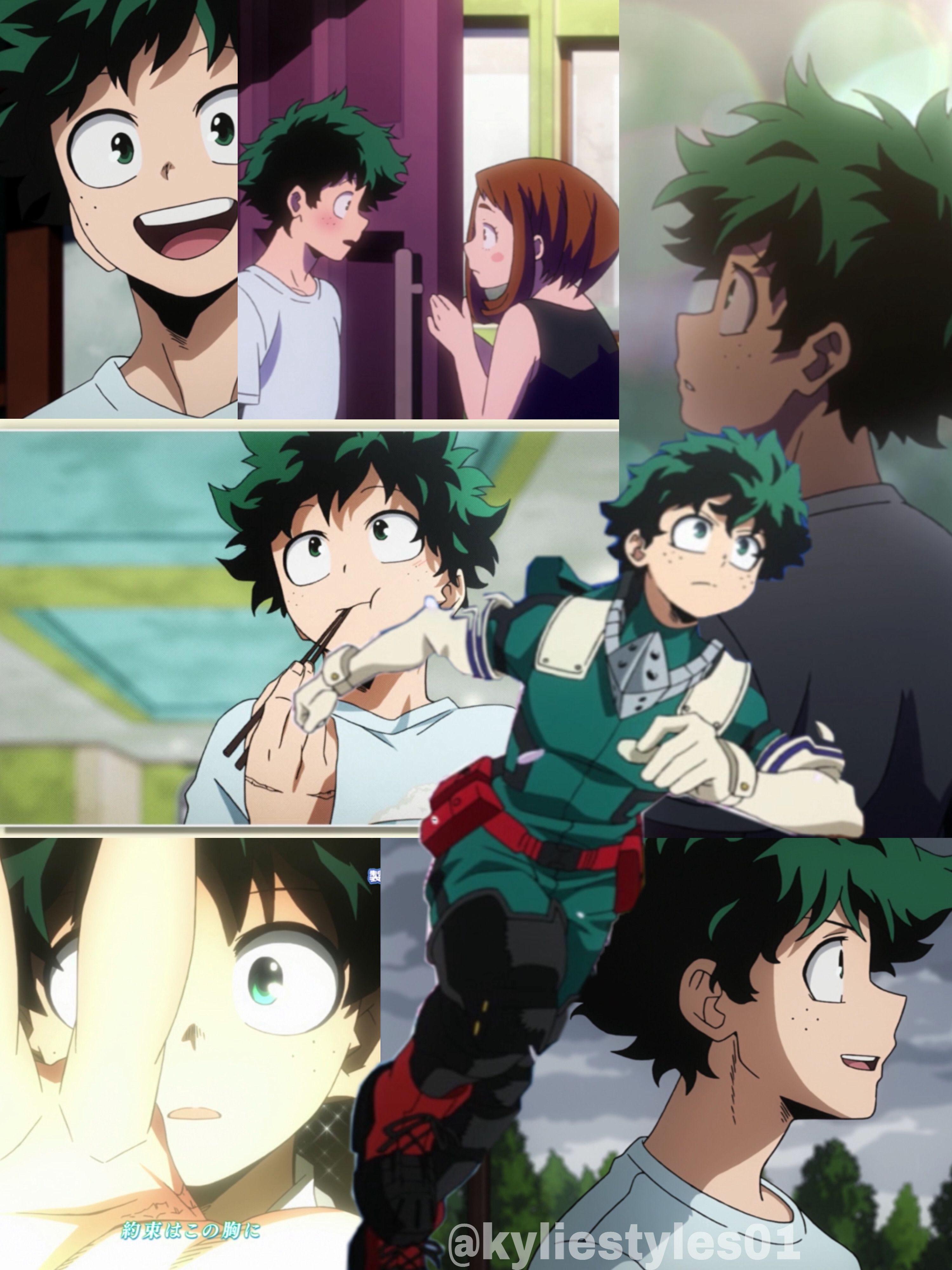 A Collage Of Deku From Season 4 Ep 1 My Hero Academia My Hero