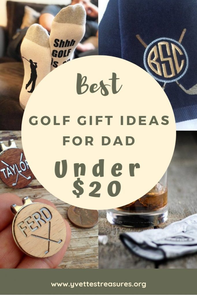 Golf Gift For Dads. The BEST golf gifts under $20 just for dad. Great for #fathersday #birthdays #christmas #giftguides #giftsforhim #golf #sport & Best Golf Gift Ideas For Dad Under $20 | Best of Yvetteu0027s Treasures ...