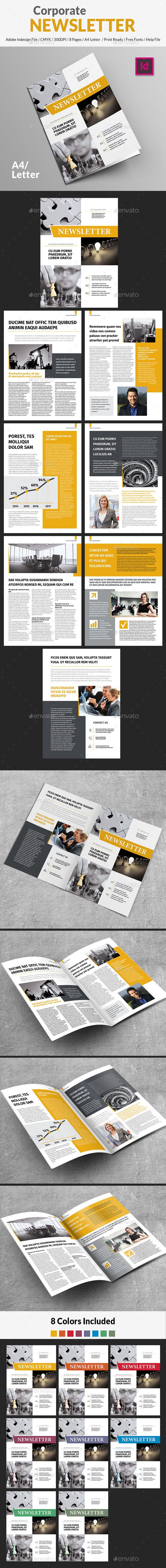 Corporate Newsletter  Newsletter Templates Template And Print