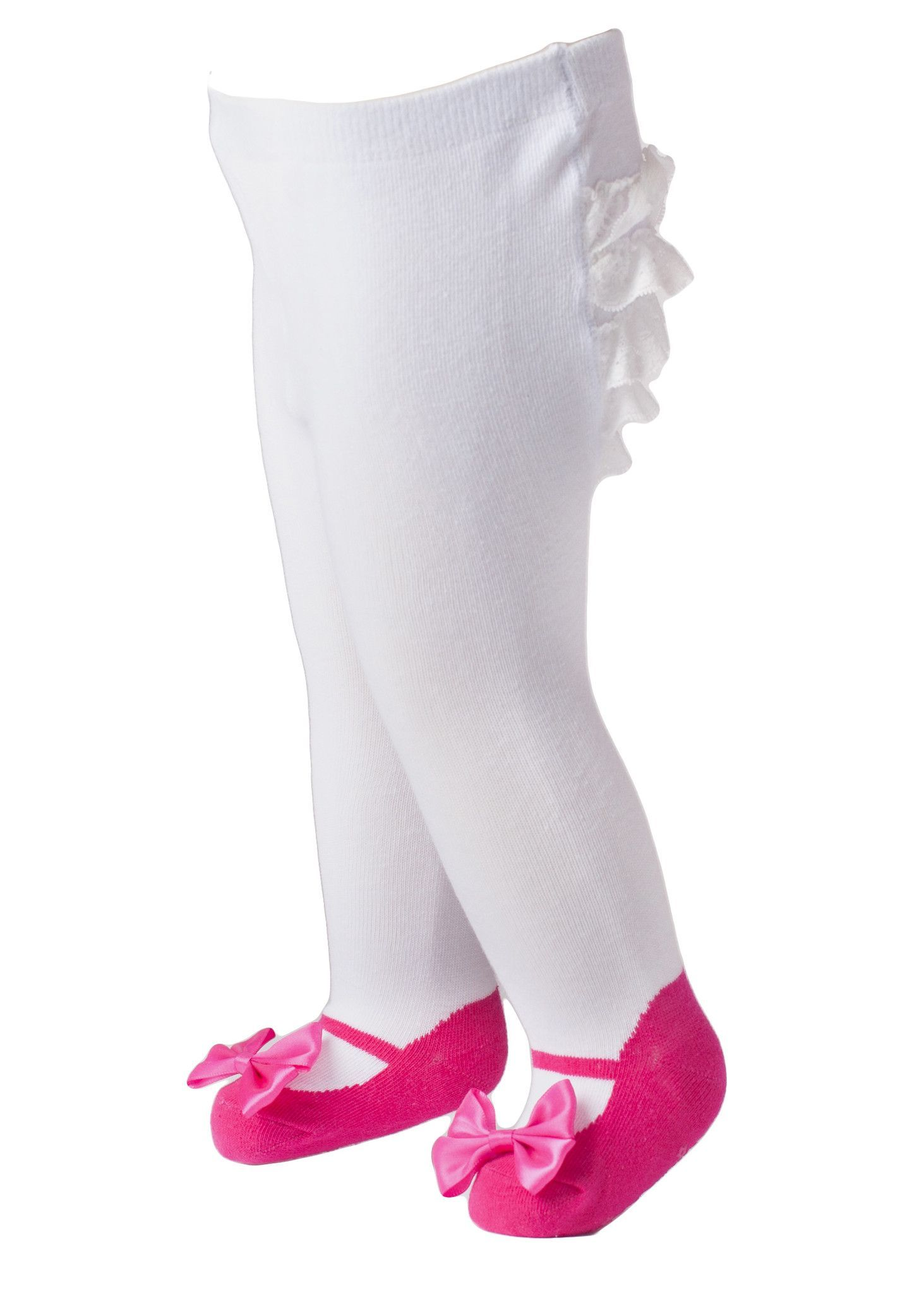 Baby Strumpfhosen Set Mary Jane Tights Fuchsia Bow Shoes And Ruffle Bum Products