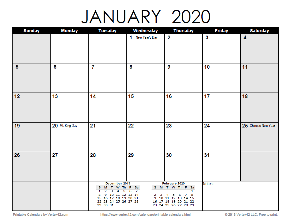 I Just Downloaded An Easy Printable Monthly 2020 Calendar Pdf From Vertex42 Com Excel Calendar Monthly Calendar Template Calendar Printables