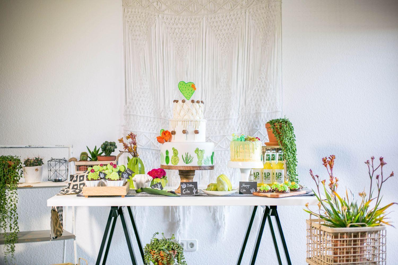 Trend makramee und kaktus ein sweet candy table der besonderen art