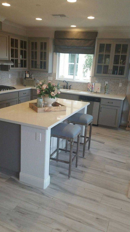 38+ Beautiful Farmhouse Gray Kitchen Ideas Grey