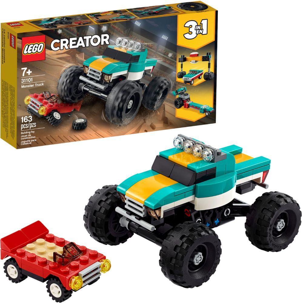 Lego Creator 3 In 1 Monster Truck 31101 Green Yellow 6288724 In 2020 Monster Truck Toys Monster Trucks Toy Trucks