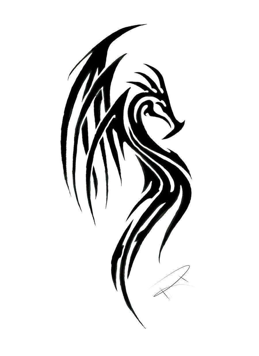 Welsh dragon tattoo designs - Awesome Tribal Dragon Tattoo Designs