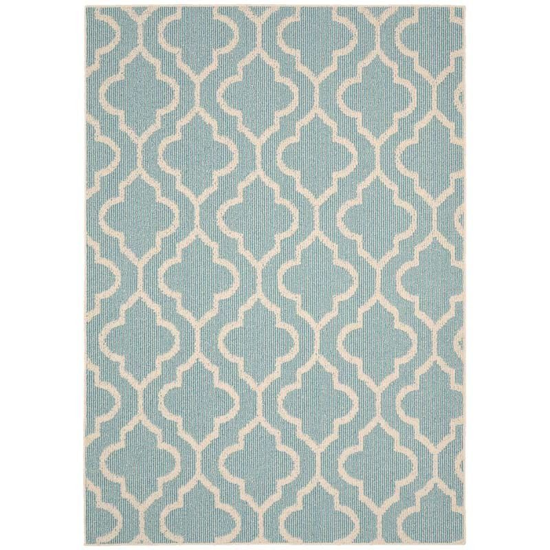 Double Quatrefoil Teal 5x7 Indoor Outdoor Rug Weekends Only Furniture And Mattress