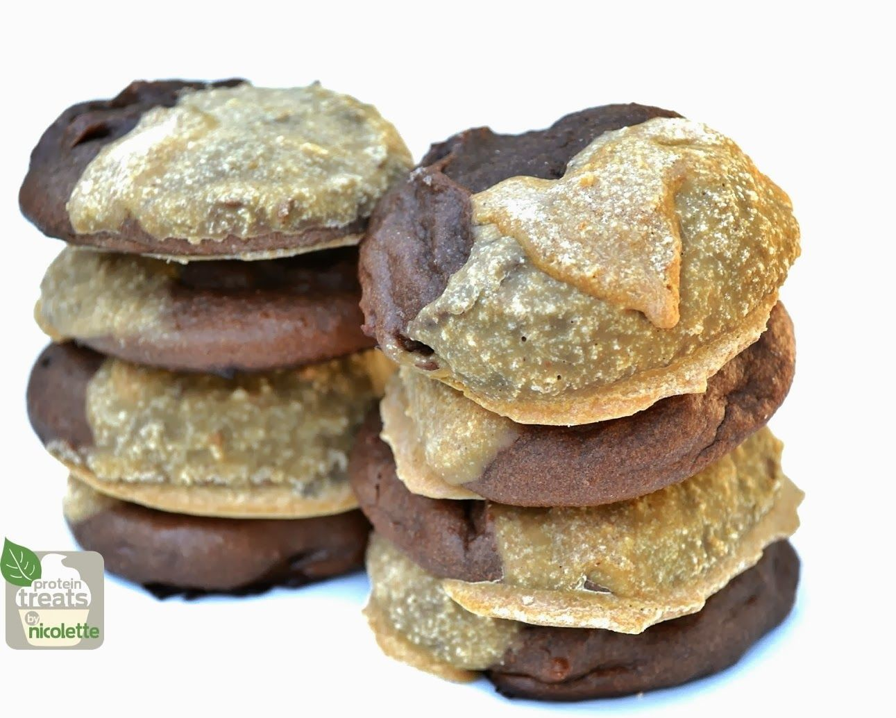 Protein Treats By Nicolette : Peanut Butter Coated Chocolate Protein Cookies