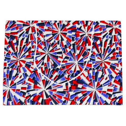 Patriotic pattern large gift bag
