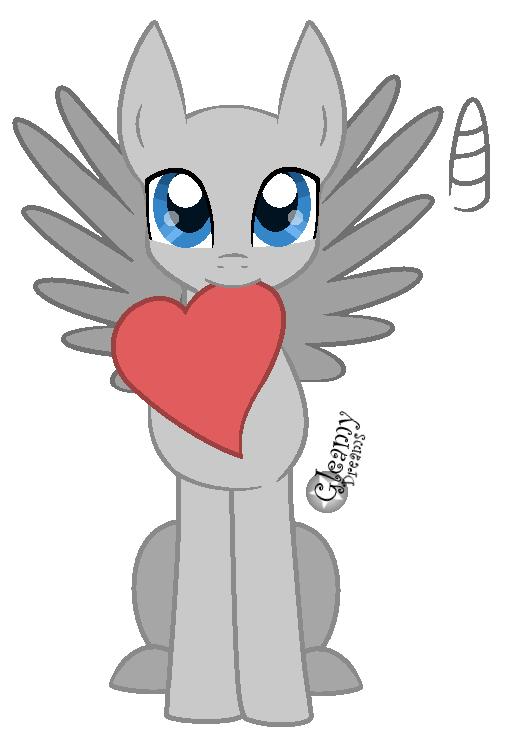 Pony Heart Base Ms Paint Friendly By Gleamydreams On Deviantart