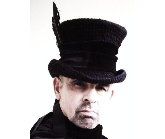 Raven Man's Top Hat Mad Hatter