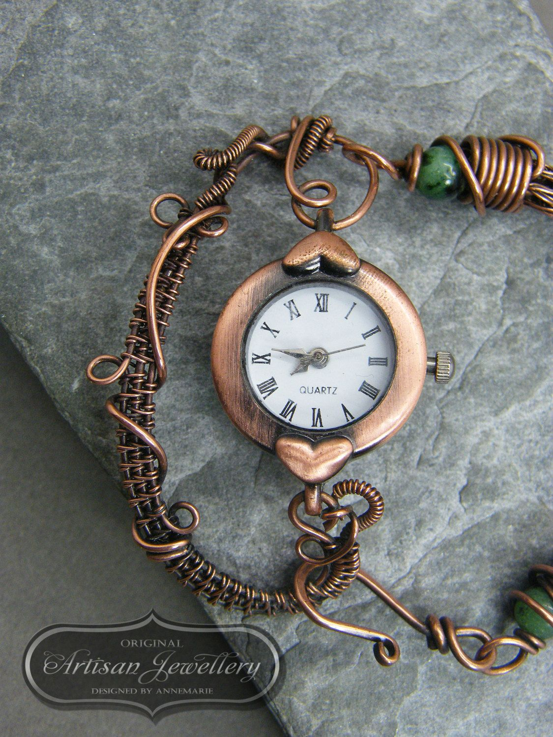 Ladies watch ~ Wire wrapped ~ Copper jewelry ~ Unique gift for ...