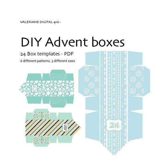 Advent calendar DIY boxes INSTANT Download by ValerianeDigital