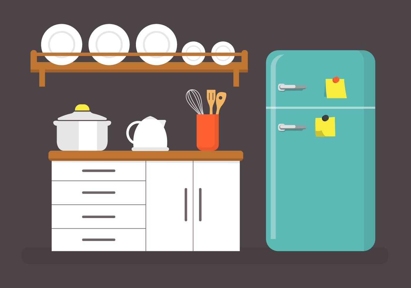 Картинки на кухню в векторе