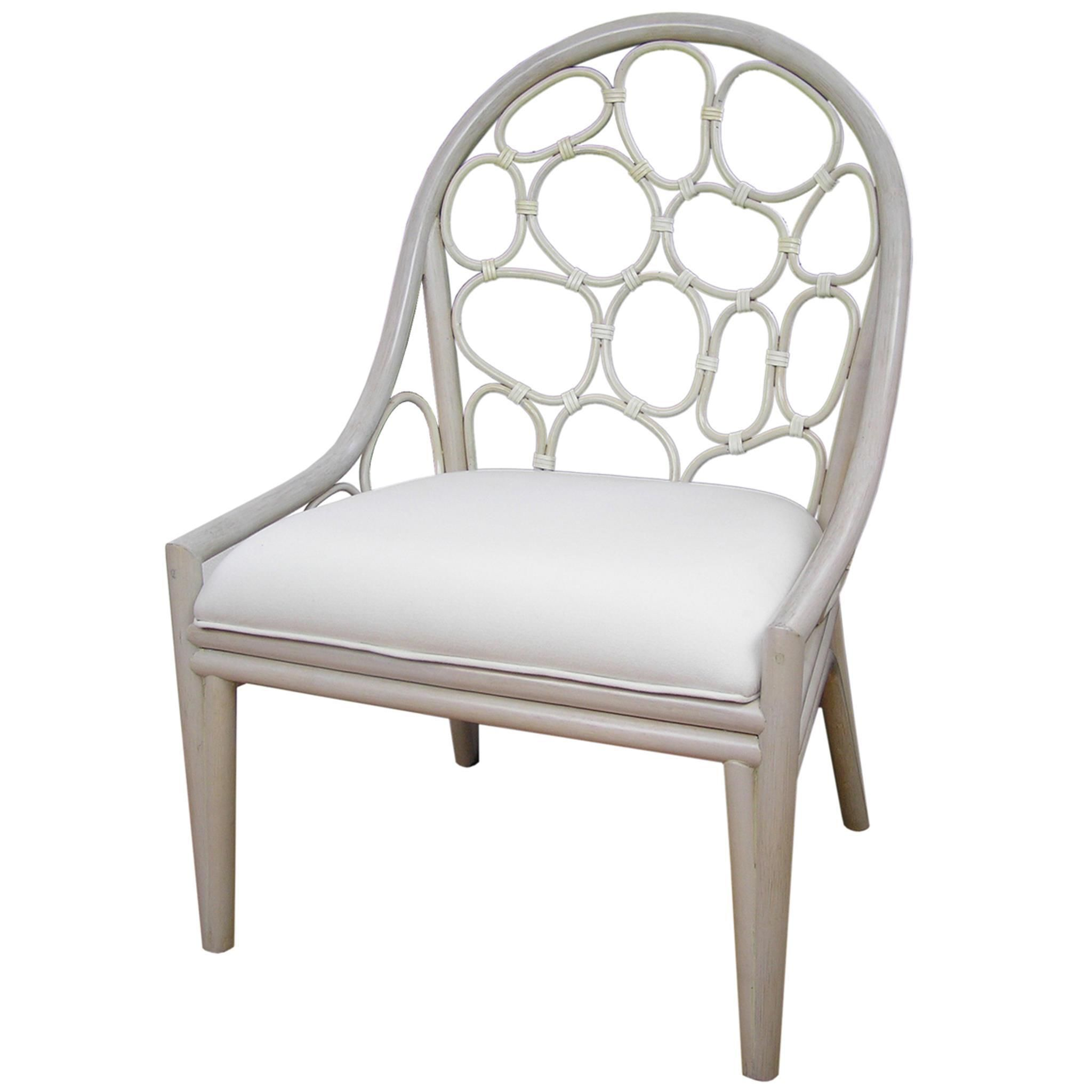 Siletz Transitional White Wooden Chair by Crafted Home