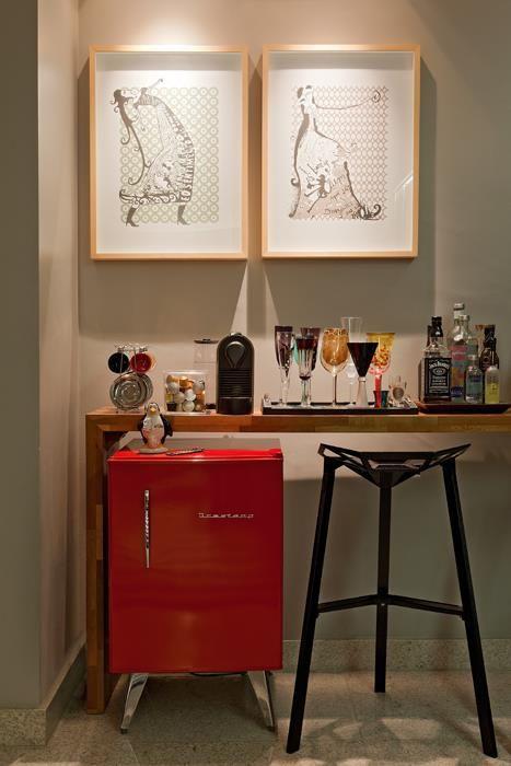 Residência Hanriot I Isabela Bethônico Arquitetura. Bar / Detalhes / Spot / Corner / Small spaces / Interior Inspiration