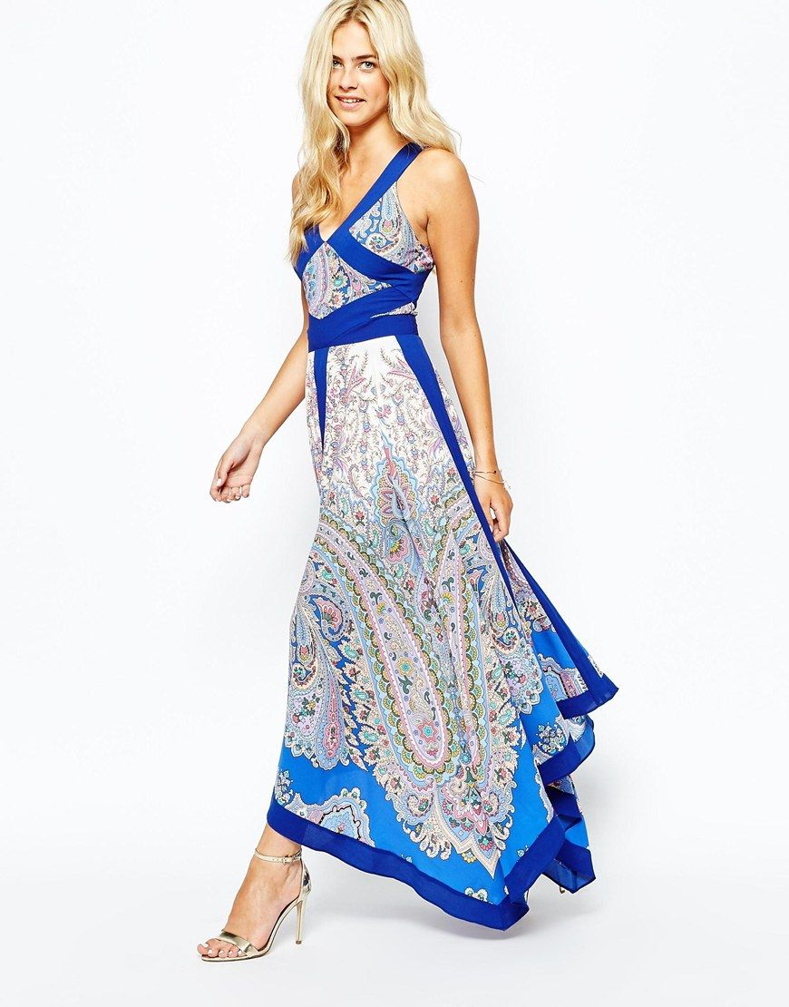 Oasis Paisley Hanky Hem Maxi Dress | Maxis, Oasis and Dresses