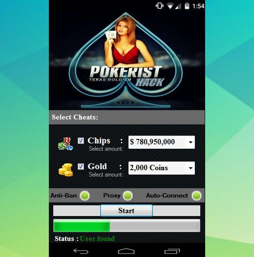 HACK POKERIST TEXAS HOLD'EM POKER APK Hack with App в
