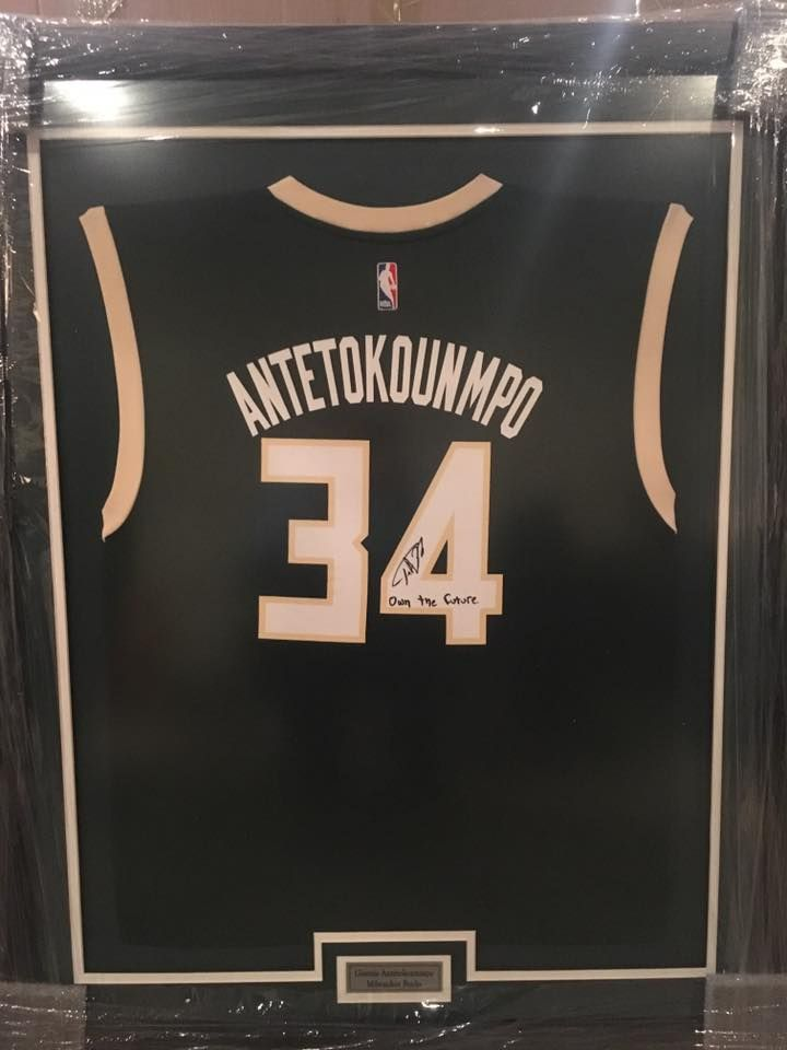 dfc0cd4e9b7 Framed  Giannis  antetokounmpo  bucks jersey