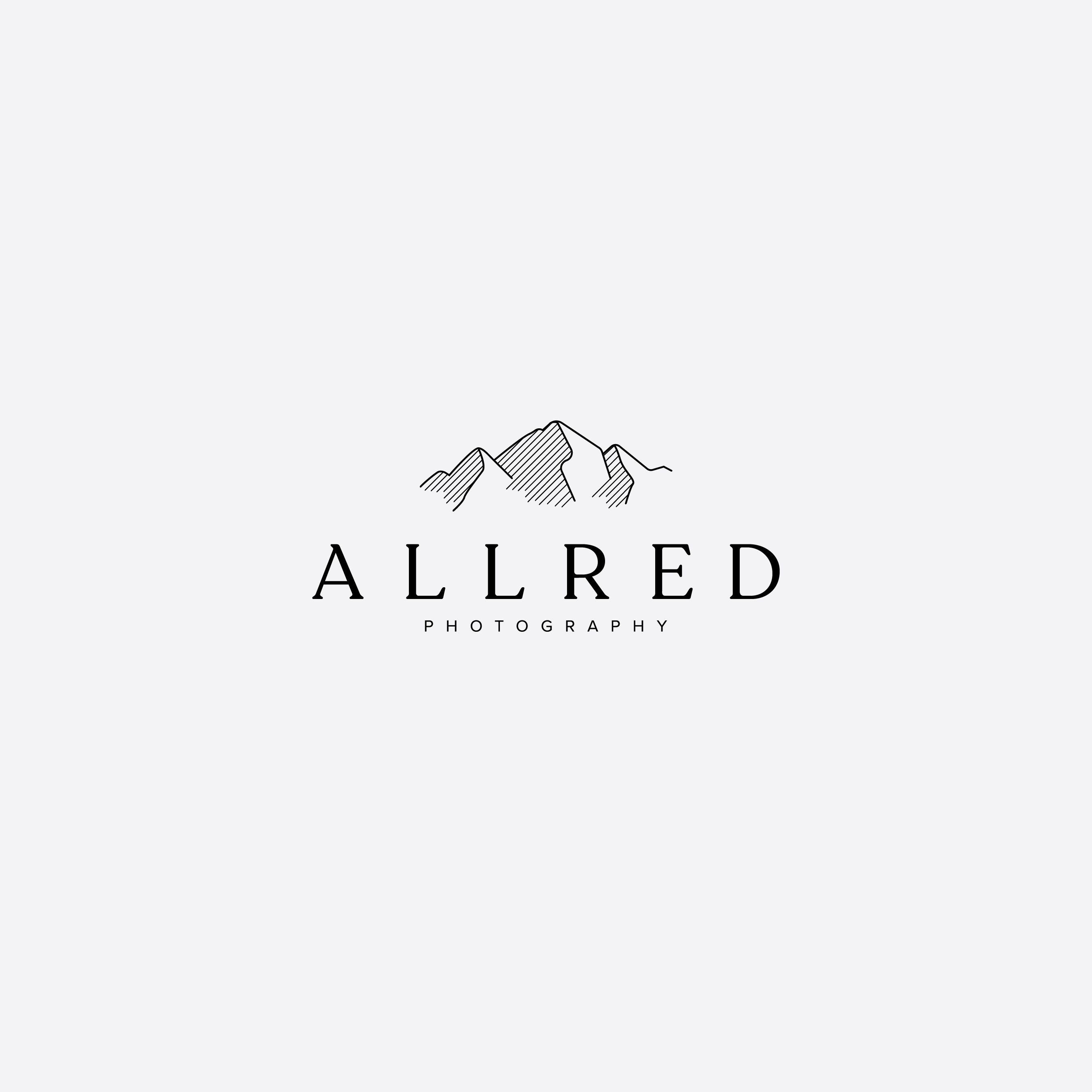Simple And Modern Logo And Logo Mark With Mountains Modern Serif Typography Mixed With Sans Serif Li Simple Logo Design Branding Design Studio Adventure Logo