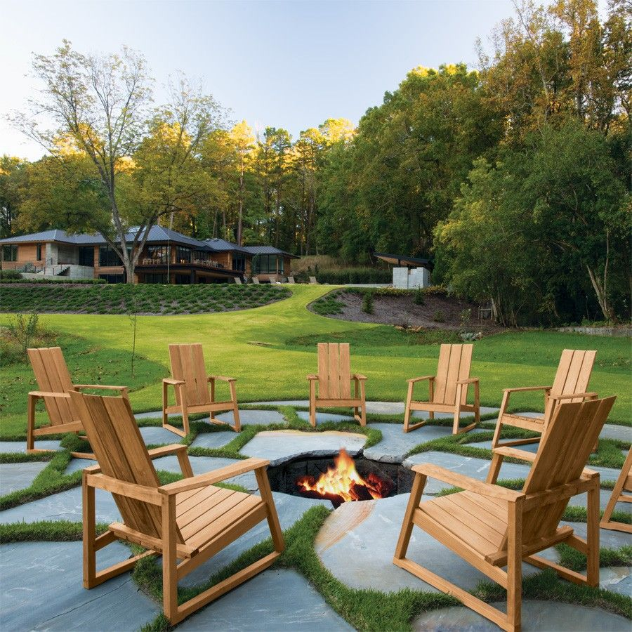patio furniture with fire pit a sleek modern update to the classic adirondack chair 29218