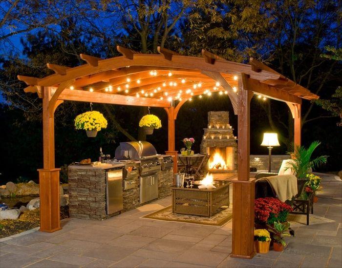 ▷ 1001 + designs splendides d\u0027une cuisine extérieure Barbecues - photo cuisine exterieure jardin