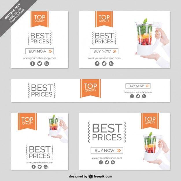Shopping online minimalist banner Free Vector | Card & Banner ...