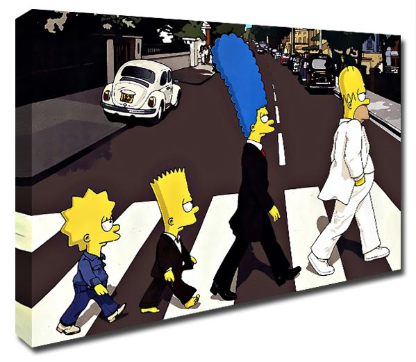 The Simpsons Abbey Road pop art canvas print http://www.simplycanvasart.co.uk/products/THE-SIMPSONS-ABBEY-ROAD-479175.aspx