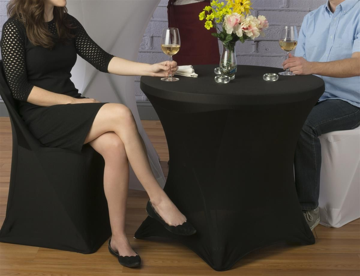 31 w x 29 h stretch cocktail table covers black. Black Bedroom Furniture Sets. Home Design Ideas