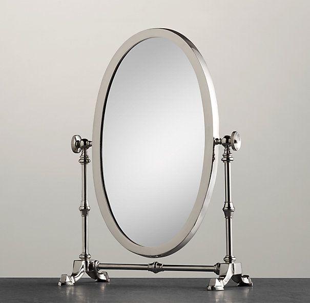 vanity mirror on stand. Hopkins Vanity Mirror  Restoration Hardware 145 00 Inspired by early 20th century vanity