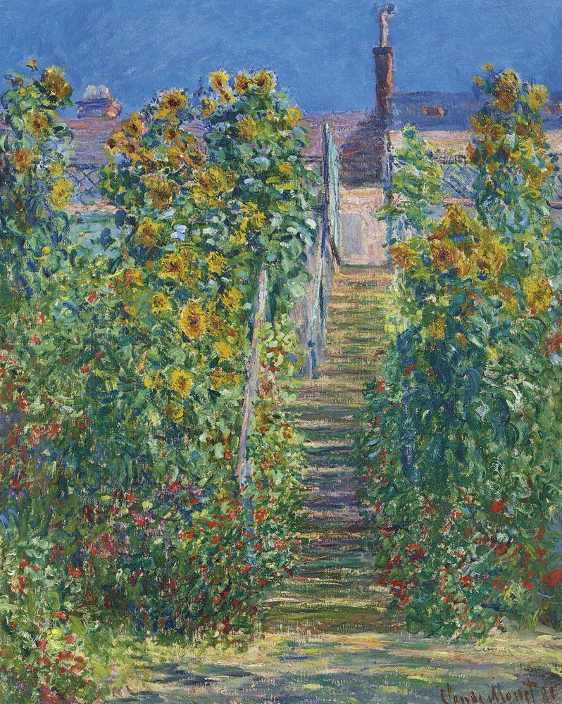 """Claude """"L'Escalier a Vetheuil"""" Art Print by"""
