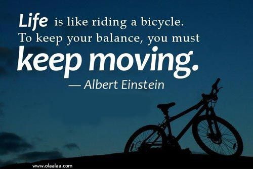 Life Thoughts Quotes Albert Einstein Bicycle