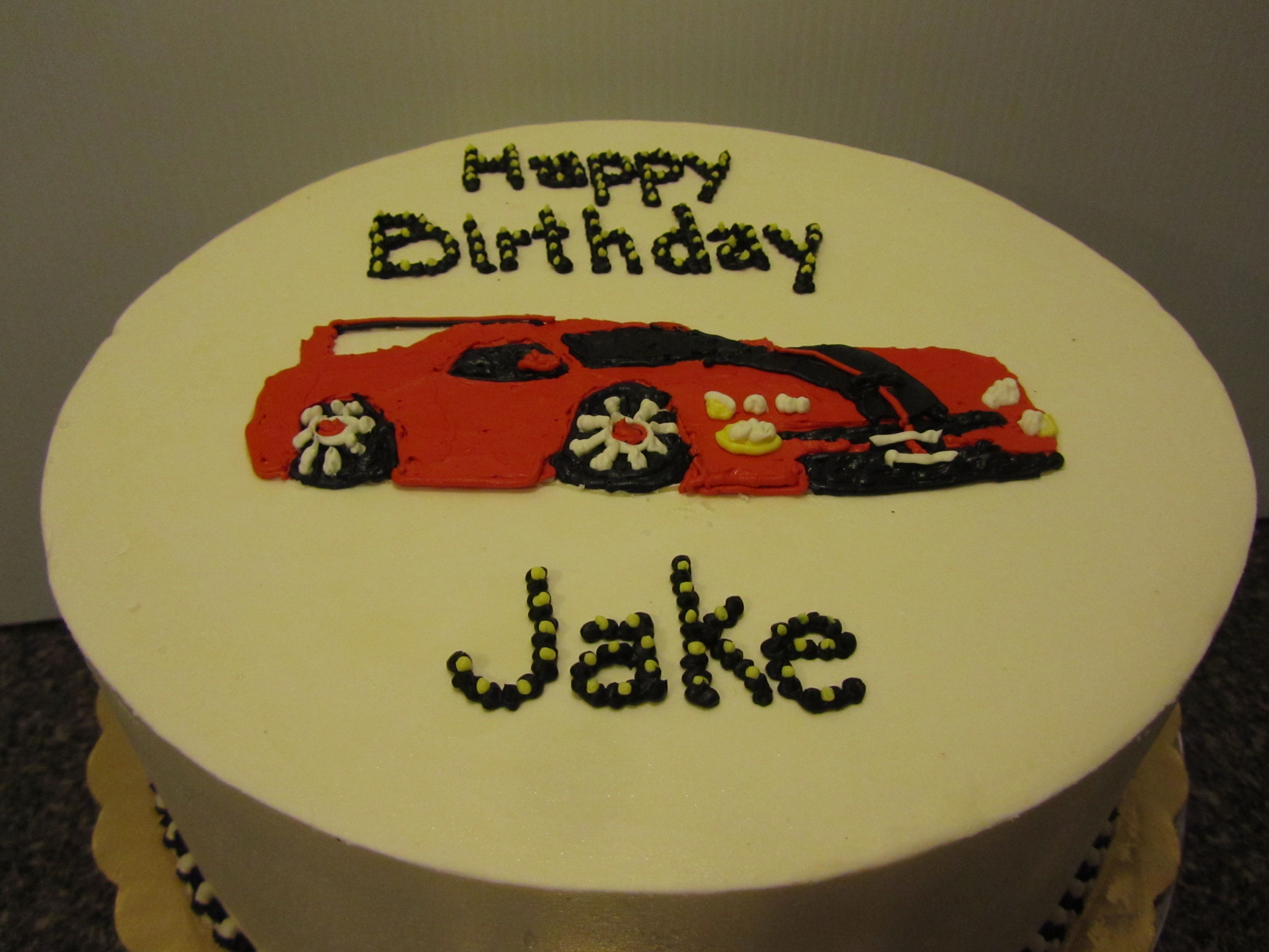 Jakes Race Car Cake