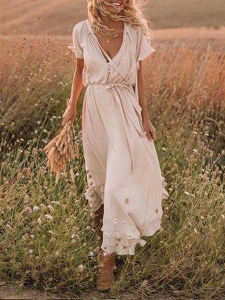 Linen Maxi Dress Summer #bohemian #dress #summer #linen #maxi - lyricsfriday
