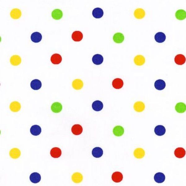 Primary Color Polka Dots Background