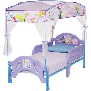 Disney Tinkerbell Fairies Toddler Bed With Canopy Tinker Bell