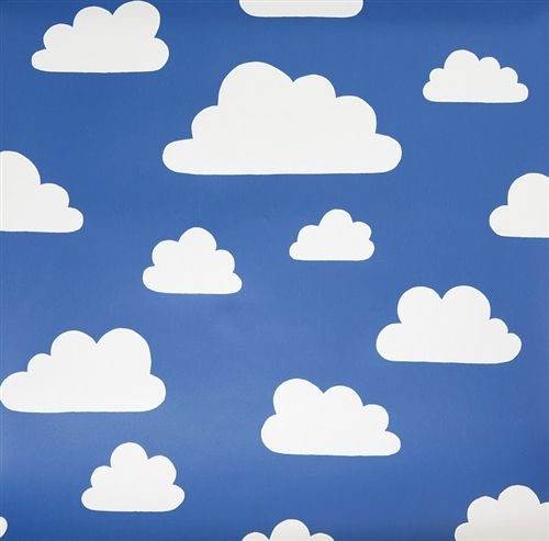 Clouds Blue Fabric At Swedish Company