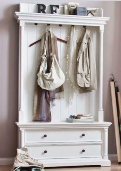 Landhausmöbel weiss Novasolo Provence Garderobe Dielenschrank ...