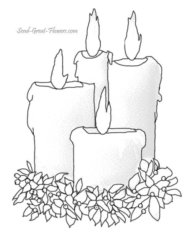 images of candles coloring pages google search