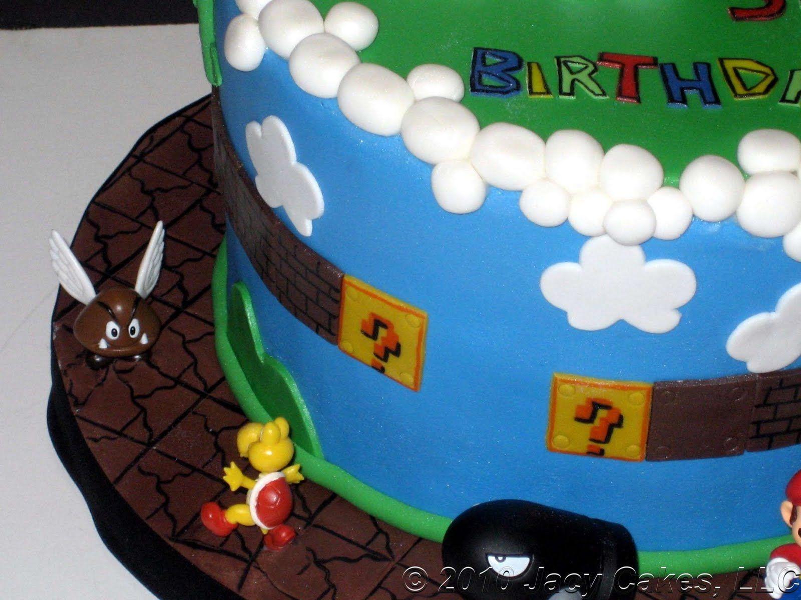 Super Mario Birthday Cakes News From Jacy Cakes Mario Cakes