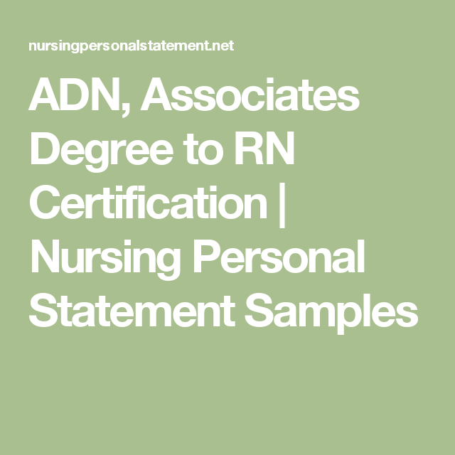ADN, Associates Degree to RN Certification | Nursing Personal ...