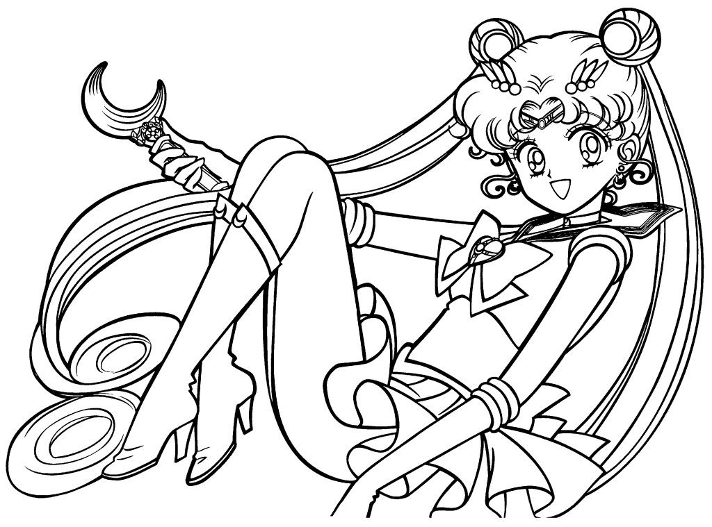 Free Printable Sailor Moon Coloring Pages For With Images