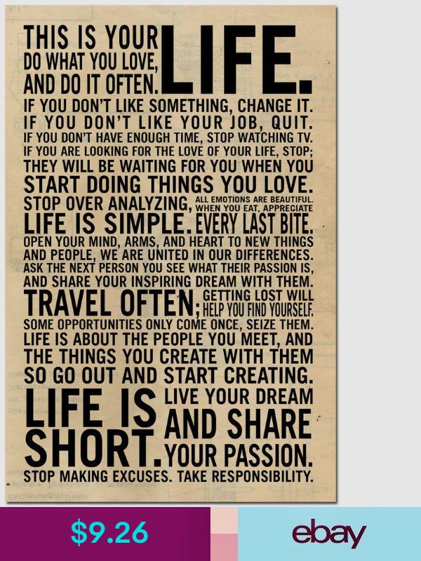 """Motivational Inspirational slogan Art Frame Silk Fabric Poster 24/""""x16/"""" A15"""