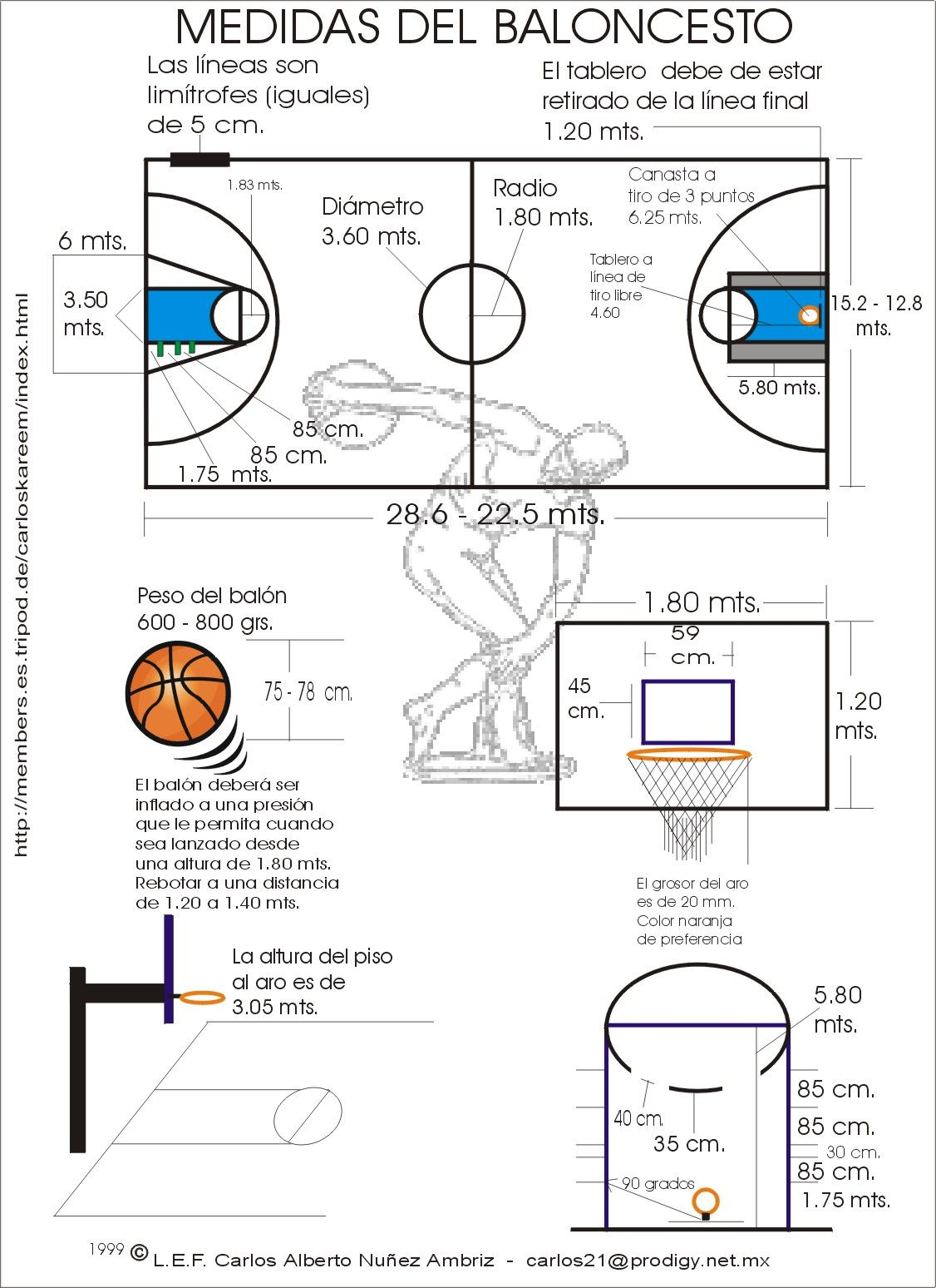 Cancha Basquetbol Buscar Con Google Basketball Backboard Basketball Court Layout Basketball Court Measurements