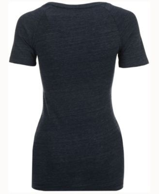 adidas Women's Cleveland Cavaliers Woodgrain Stripe T-Shirt - Blue L