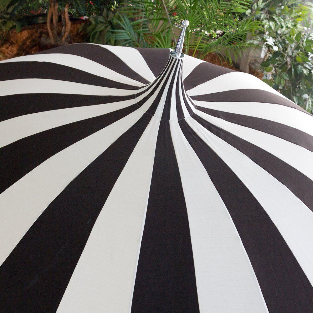 California Umbrella Pagoda 8.5 Ft. Striped Sunbrella Patio Umbrella    California Umbrella Pagoda 8.5