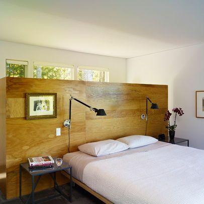 half wall behind bed | New York Bedroom Photos Half Wall Design ...