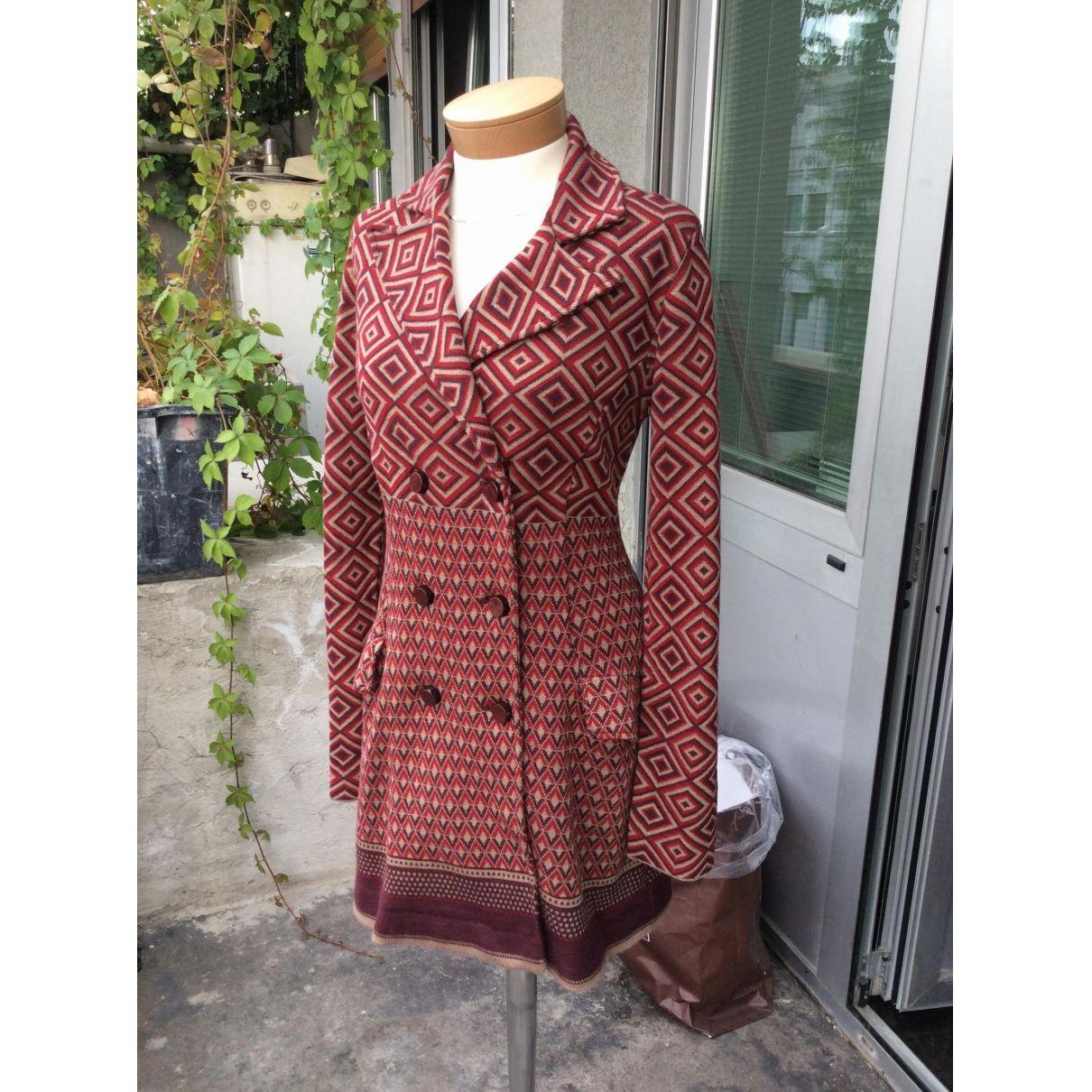 SISTES Burgundy Wool Coat