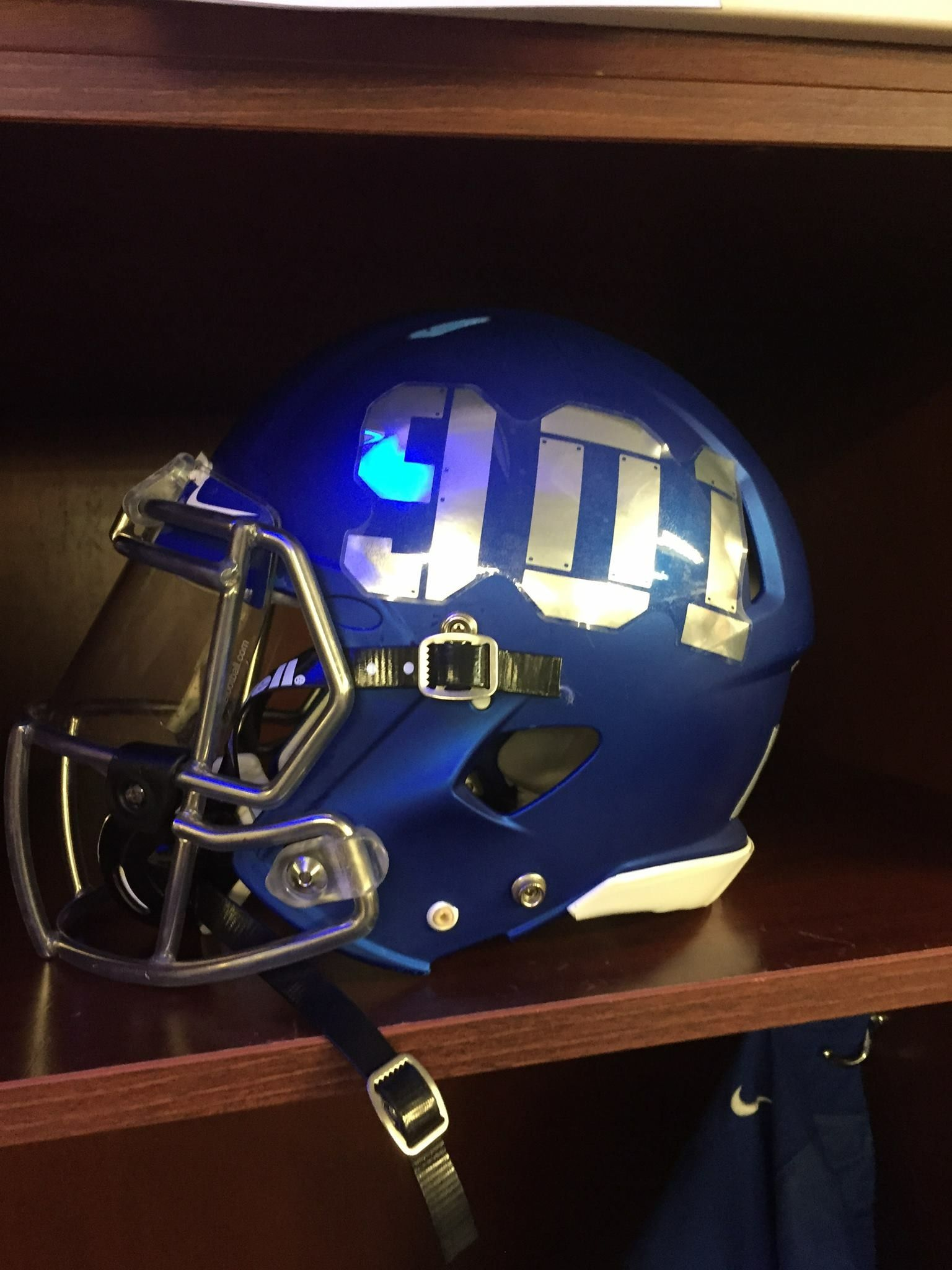 Helmet Worn At The 901 Game By The University Of Memphis